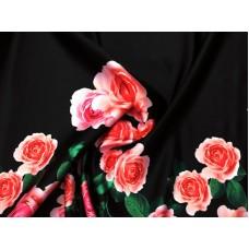 Атлас корсетный с цветами